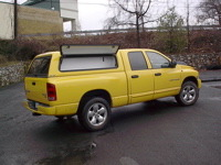 Dodge Fiberglass with Toolbins Open